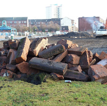 The flats on Dumbarton Road, Dalmuir have been demolished. - 21st January 2011