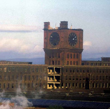 Singer Factory clock demolition - from the collection of Jack Carson