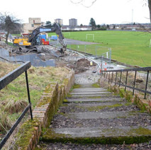 The properties, at North Mountblow, are being levelled.  -  15th February 2013
