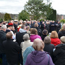 The Remembrance Service for The 75th Anniversary of the Clydebank Blitz at Old Dalnottar Cemetery. - 12th March 2016