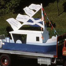 The Churches float in Parkhall. Clydebank Centenary Celebrations 1986 - photo by Sam Gibson