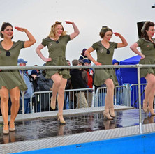 It wasn't all about cars. These lovely ladies were entertaining us with their dance routines. - 29th January 2012