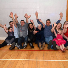 Some of the family having fun at Mary and John's 50th Wedding Anniversary Party in Centre 81, Whitecrook.  5th January 2019