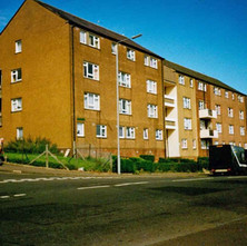 Flats on Second Avenue, just off Kilbowie Road. Clydebank 1987. - Photos taken by Sarah from California, USA
