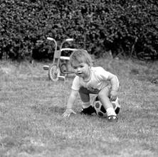 Jennifer sitting on the ball. - 21st May 1980
