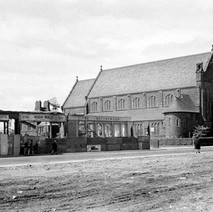 Our Holy Redeemer's Church and the Blythswood Pub on the corner, almost gone... - Photo by William Duncan