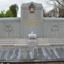 The Blitz Memorial in Old Dalnottar Cemetery. - 12th March 2016