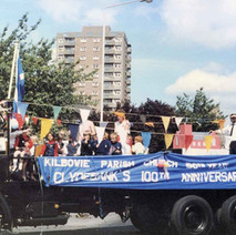 The Kilbowie Parish Church float turning into Second Avenue. Clydebank Centenary Celebrations 1986 - photo by Wallace McIntyre