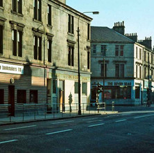 Dumbarton Road looking towards Kilbowie Road on the left. - Photo by Tommy Quinn. 1979