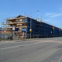 New Flats being built on Dumbarton Road in Dalmuir - 3rd May 2012