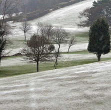 Dalmuir Municipal Golf Course looking very bleak and cold. - 25th January 2013