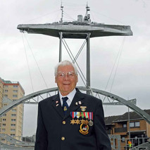 Freddie is one of less than 20 remaining living crew members from HMS Ramillies. - Sunday 25th April 2010 Dalmuir
