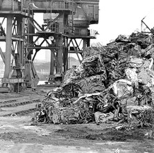 Scrap metal at the Rothesay Dock. - 8th March 1980