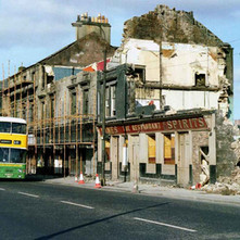 The famous Connolly's Pub on Glasgow Road almost demolished. - March 1980