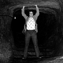 This is me holding up the roof of the mine under St andrews Castle. - 16th July 1978
