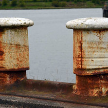 Well worn bollards, I wonder how many years it took for the ropes to wear a pattern in the metal... 5th April 2012