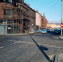 Alexander Street, before being demolished to make way for another phase of the Clyde Shopping Centre. - Photo by Tommy Quinn. 1979