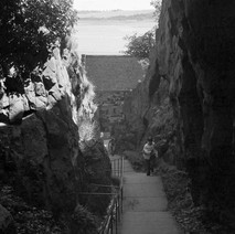 Some of the 557 steps to get to the top of Dumbarton rock which is 240 feet (73m) high. - August 26th 1978
