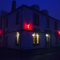 The Douglas Hotel looking inviting in the mist. - 6th February 2012