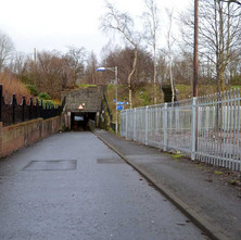 Road leading to the Forth & Clyde underpass in Dalmuir. - 26th January 2013