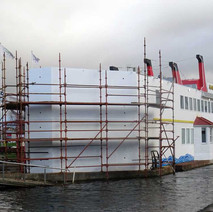 McMonagles Fish Boat is getting an extension built on the back, so that a lift can be installed.  -  3rd January 2017