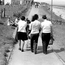 Walking down to the beach. Helen, my wife, and my sisters, Nancy and Joyce. -  16th July 1978