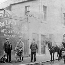 Latto's in Canal Street a long, long time ago. Latto's was established in Clydebank even before Clydebank became a Burgh in 1886. Jimmy Ward used to own Latto's. - Photo supplied by Jimmy and Patricia Ward.