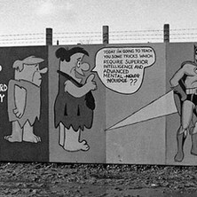 Detail of the wall. - Saturday 3rd March 1979 Glasgow Road