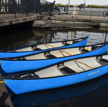 Canoes on the canal, this should happen on the canal more often. - 24th March 2018
