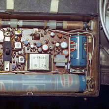 This is the inside of my transistor radio that I bought in the 60s. I still have it and it still works but can't seem to pick up the pirate radio stations anymore. - 1977