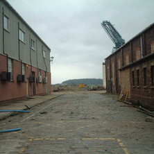 A view of the yard from Hall Street.  -  24th March 2002