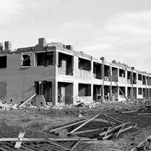 The top floor has been removed. Whitecrook, Clydebank. - Photo by William Duncan