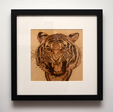 One of my 2019 wood burnings… 'Tiger' . - 29th January 2019