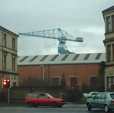 Crane towering over the shipyard at Somerville Street.  -  27th January 2002