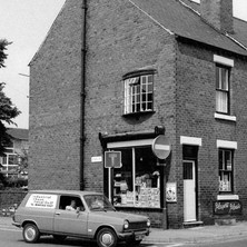 Traditional corner shop in Wakefield. - Yorkshire 12th july 1979