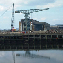 One of the cranes due to be demolished.  -  9th April 2002