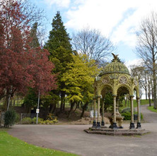 The Edwardian drinking well in Dalmuir Park - 16th April 2012
