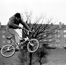 The new BMX track created at Drumry for the latest craze. - 17th February 1985
