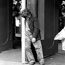 Drunk guy on Argyle Street, well, it was the start of the Clydebank Fair and he looks as if he started celebrating early. - Friday 29th June 1979