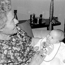This is my mum, 'Bunty', with Jennifer. 4th July 1978