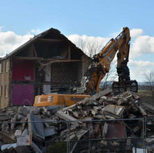 Singer Street getting demolished to make way for new housing. - 9th April 2016