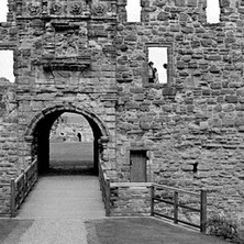 St Andrews Castle front entrance. The castle has been rebuilt several times over the centuries. This part was done by Archbishop John Hamilton between 1549 and 1571. - 16th July 1978
