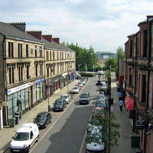 A view down Alexander Street. - 24th June 2009