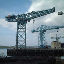 Cranes in the Yard awaiting there fate. Soon to be reduced to scrap metal.  -  9th April 2002