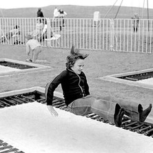 Stephen having a bounce on the outdoor trampolines, long before it became the fashion to have one in your garden. - Sunday 23rd July 1978