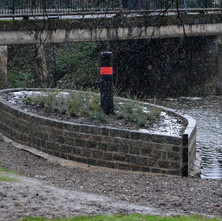 The new ship in the Duntocher Burn at Dalmuir Park. - 25th January 2013