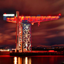 The Titan Crane looking splendid lit up red this evening. 23rd February 2017