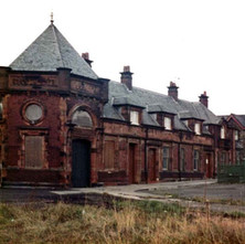 The Clydebank Riverside Station Booking Office all boarded up  -  Photo by Tommy