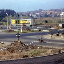 Kilbowie Roundabout being constructed in 1959 - from the collection of Jack Carson