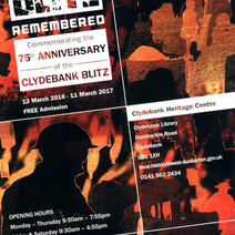 Flyer for the 'Blitz Remembered' Exhibition. I designed the background graphics for it. - 11th March 2016
